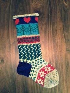 Festoon your hearth with this whimsical hand knit Christmas stocking. Was $55 - now $50 for a limited time