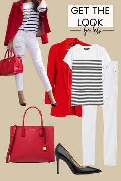 Red Blazer Outfit, White Pants Outfit, Blazer Outfits Casual, Jean Outfits, Classy Outfits, Outfit Jeans, Work Casual, Casual Chic, Mode Ab 50