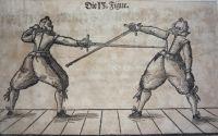 Illustration of practice rapier from Hundt, 1611