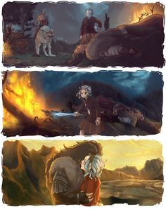 Gajevy/the Hobbit. OMG when I saw this I was literally watching this part in the Hobbit at exactly the same moment... O.o