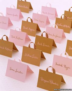 """Handbag"" Place Cards"