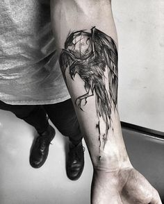 Inez Janiak Raven tattoo - this is GORGEOUS!
