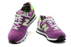 Running shoes New Balance 574 Women's Purple / White Lime Green