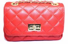 ONLY ONE 1073 ROSSO Pochette borsa donna trapuntata matelasse pelle mod. Chanel