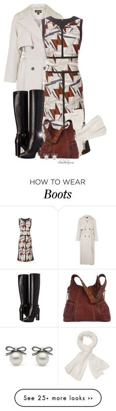 """back to normal"" by cloudosaurus on Polyvore featuring Topshop, Carolina Herrera, Burberry, Magaschoni and Kooba"