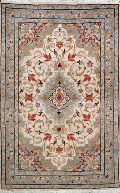 "Tabriz Persian Rug, Buy Handmade Tabriz Persian Rug 3' 3"" x 5' 2"", Authentic Persian Rug"