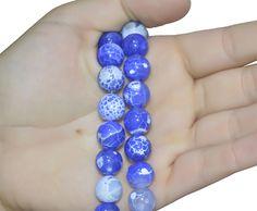 Ágata Calcedônia Azul Fio com Esferas de 12mm - FESF_390/12  - ArtStones
