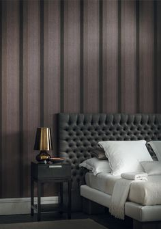 Dandy - A very textured collection made of designs and soft textures, a male dressing-room. (Visit www.xessex.com.sg for the latest ranges and collections of #wallcoverings and #wallpapers!) #stripes