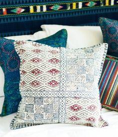 White India Block Pillow.