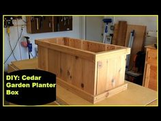 Cedar Garden Planter Box - This could elevated easily by placing placed on a few stacked cinder blocks