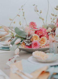 love this floral centerpiece