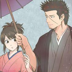 Gintama. Kondo & Otae