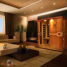 Dynamic Infrared Madrid 3 Person FAR Infrared Sauna Finish: Non-stained Infrarot Sauna, Sauna Room, Indoor Sauna, Portable Sauna, Traditional Saunas, Sauna Design, Downstairs Bathroom, Bathroom Closet, Master Bathroom