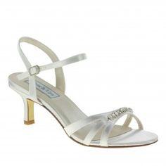 DIANE-484 Women Rhinestones Heels - White