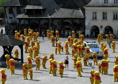 Meanwhile in Poland.. I would love for this to happen to me! Pooh Bears everywhere!
