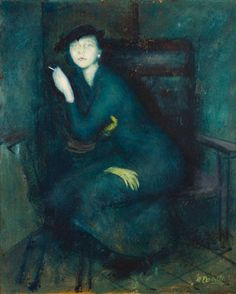 William Dobell, Australia, 1899 – 1970, The yellow glove, 1940, Sydney, oil on board, 34.5 x 29.9 cm; Elder Bequest Fund 1940