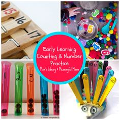 Early Learning Counting and Number Practice at Moms Library Link Party + $100 Giveaway ($50 in Cash Card)