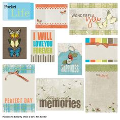 A product to make scrapping quick, easy and beautiful! Pocket Life: Butterfly Effect, designed by Kim Meeder, Scrap Girls, LLC digital scrapbooking product designer