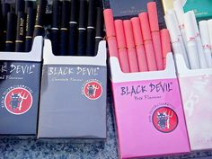 BLACK DEVIL cigarettes... If I still smoked, I'd smoke these. (smoking is bad for you m'kay)