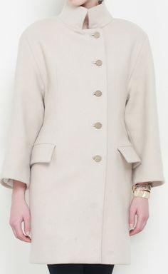 Balenciaga Cream Coat | VAUNTE