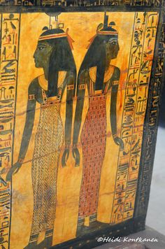 Isis and Nephthys | Detail from the coffin of Khonsu.