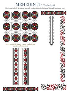 Folk Embroidery, Embroidery Patterns, Cross Stitch Patterns, Wedding Album Design, Crochet Borders, Mosaic Art, Cross Stitching, Beading Patterns, Needlework
