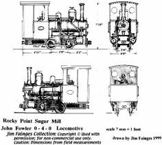 Rocky Point Sugar John Fowler 0-4-0T locomotive