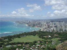Book your holiday in  and enjoy this view of #Honolulu from  , the volcanic tuff cone. Choose the #hotel of your choice with http://www.traveltura.com