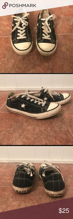 Converse One Star, Size 8 Converse One Star; black; size 8; previously loved. Converse Shoes