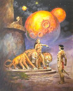 Original Comic Art titled DON MARQUEZ original art, Dejah Thoris,JOHN CARTER of on located in High Quality's UnPublished work by a variety of artists. Fantasy World, Dark Fantasy, Robert E Howard, A Princess Of Mars, Futuristic Art, Sword And Sorcery, Fantasy Artwork, Sci Fi Art, Comics