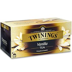 Twinings Black Tea Vanilla Tea / 25 Tea Bags / 50g / 1.8oz. An indulgent black tea with vanilla and caramel flavours. Black tea is a natural source of antioxidants that may help protect the body from
