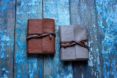 Set of 2 mini Leather Journal  Best Gift от MananaBooks на Etsy