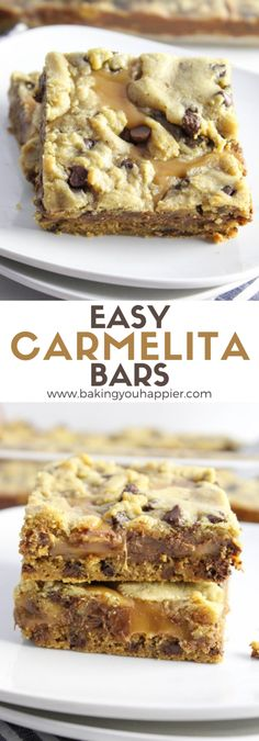Easy Carmelita Bar Recipe | Baking You Happier Healthy Dessert Options, Best Dessert Recipes, Easy Desserts, Delicious Desserts, Breakfast Recipes, Oreo Dessert, Dessert Bars, Vegetarian Meals For Kids, Vegetarian Recipes Easy