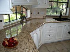 New Venetian Gold Granite Kitchen Pictures | New Venetian Gold Granite Kitchen Countertop Ideas Pictures