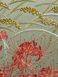 Hurricane lily. I don't think I've ever seen that in embroidery before.