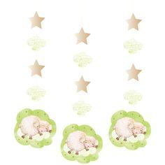 3 décorations à suspendre baby douceur - Annikids