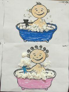 Banyo yapan çocuklar