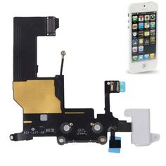 Dock Connector with Headphone Jack Flex Cable Repair Replacement for iPhone 5(White)