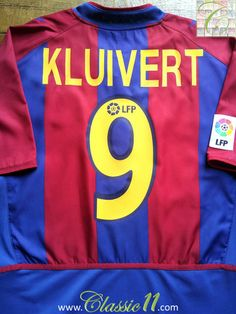 c02cdc02f5e Relive Patrick Kluivert s 2002 2003 La Liga season with this Vintage Nike  home football shirt