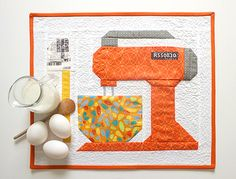 Cute orange mixer from Lori Holt's pattern called Mixing it Up!