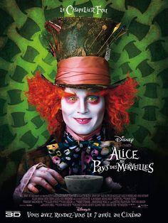 Alice au Pays des Merveilles est un film de Tim Burton avec Johnny Depp, Mia Wasikowska . Synopsis : Alice, désormais âgée de 19 ans, retourne dans le monde fantastique qu'elle a découvert quand elle était enfant. Elle y retrouve ses amis le Lapin Bla