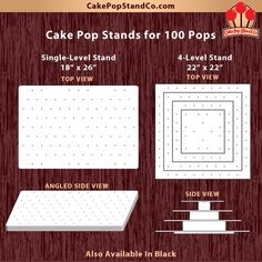 Awesome! Two different options for cake pop stands that hold 100 cake pops.