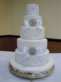 Wedding Cake Idea Diamante And Broaches