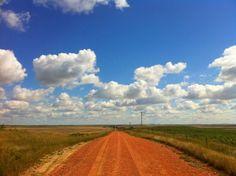 North Dakota back roads.  Love.