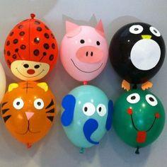 Como decorar globos con formas de animales con los niños. Decoración de globos para fiestas infantiles o pasar un rato en familia. Cómo decorar globos para jugar con los niños.