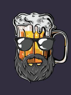 """Funny Craft Beer Drunk Uncle Beard Bearded Druncle"" T-shirt for men, husband and brother with beard and glasses and drinks alcohol and bearded malt beer. funny 'Funny Craft Beer Drunk Uncle Beard Bearded Druncle' T-Shirt by Freid Tattoo Geek, Craft Bier, Malt Beer, Geile T-shirts, Birthday Presents For Mom, Beer Art, Beer Shirts, Graffiti Art, Funny Gifts"