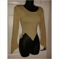 Designer LIPSY Ladies Glitzy Cropped Long Sleeve Top