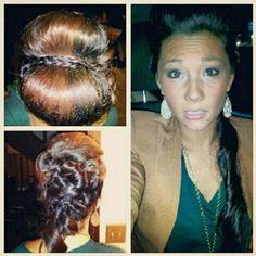 Updo fun braids as headband