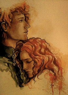 Finnick Odair and Annie Cresta Why oh why do they have to make the separation so hard?