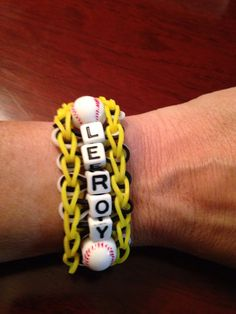 Baseball Rainbow Loom